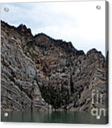 The Rocky's In The Reservoir Acrylic Print