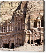 The Royal Tombs Petra, Jordan Acrylic Print by Marco Brivio