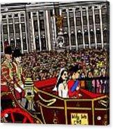 The Royal Wedding  Acrylic Print by Karen Elzinga