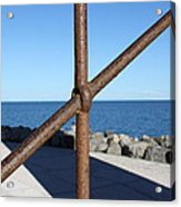 The Rust And The Sea Acrylic Print