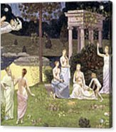 The Sacred Wood Cherished By The Arts And The Muses Acrylic Print