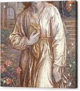 The Salutation  Acrylic Print by Dante Charles Gabriel Rossetti
