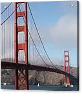 The San Francisco Golden Gate Bridge - 5d18906 Acrylic Print by Wingsdomain Art and Photography