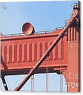 The San Francisco Golden Gate Bridge - 7d19108 Acrylic Print by Wingsdomain Art and Photography