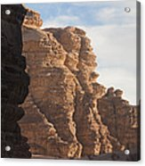 The Sandstone Cliffs Of The Wadi Rum Acrylic Print