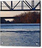 The Schuylkill River At Bridgeport Acrylic Print