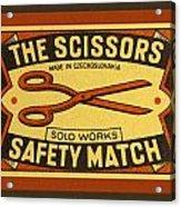 The Scissors Safety Match Acrylic Print