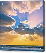 The Sea In The Sunset Acrylic Print