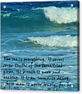 The Sea Poster Acrylic Print