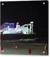 The Seaside At Night Acrylic Print