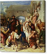 The Seven Ages Of Man Acrylic Print by William Mulready