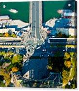 The Shadow Of The Eiffel Tower Acrylic Print