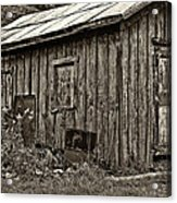 The Shed Sepia Acrylic Print