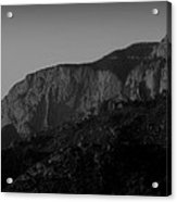 The Shield And Needle Black And White Acrylic Print