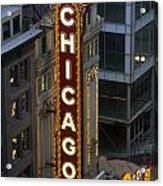 The Sign Outside The Chicago Theater Acrylic Print by Paul Damien
