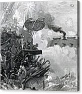 The Sinking Of The Cumberland, 1862 Acrylic Print by Photo Researchers
