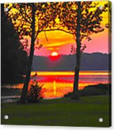 The Smiling Face Sunset Acrylic Print
