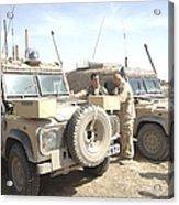 The Snatch Land Rover Used Acrylic Print