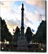 The Soldiers And Sailors Monument In Lafayette Square  Acrylic Print