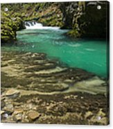 The Soteska Vintgar Gorge In Autumn Acrylic Print