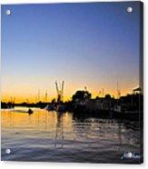 The Sponge Docks After  Sunset Acrylic Print