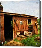 The Stable Acrylic Print by Paul Ward