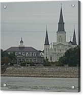 The St.louis Cathedral From Acorss The River Acrylic Print