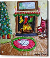 The Stockings Were Hung Acrylic Print