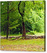 The Stone Wall Before The Cabin Acrylic Print