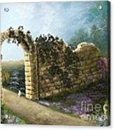 The Stone Wall Acrylic Print