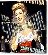 The Stork Club, Don Defore, Betty Acrylic Print