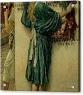 The Street Altar Acrylic Print by Sir Lawrence Alma-Tadema