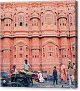 Street Life Of India Acrylic Print