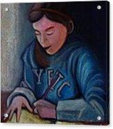 The Study Acrylic Print by Kostas Koutsoukanidis