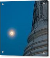 The Stupa In The Night During Full Moon Acrylic Print