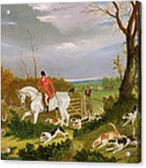 The Suffolk Hunt - Going To Cover Near Herringswell Acrylic Print