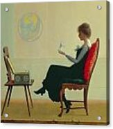 The Suitors Acrylic Print by Harry Wilson Watrous