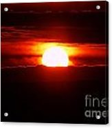 The Sun Falling Into Clouds Acrylic Print