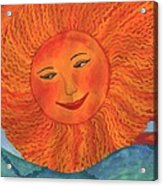 The Sun God Detail Of Red Sky At Night Acrylic Print