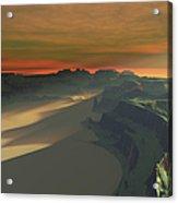 The Sun Sets On This Desert Landscape Acrylic Print