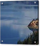 The Surface Of Crater Lake Acrylic Print