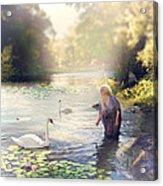 The Swan And The Fairy  Acrylic Print