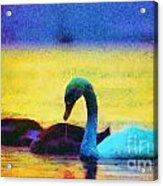 The Swan Family Acrylic Print by Odon Czintos