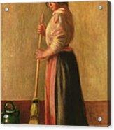 The Sweeper Acrylic Print by Pierre Auguste Renoir