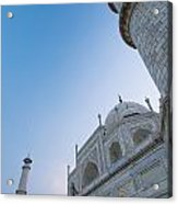 The Taj Mahal At Dusk, Low Angle View Acrylic Print