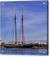 The Tall Ship Pacific Grace Based In Victoria Canada Acrylic Print by Louise Heusinkveld