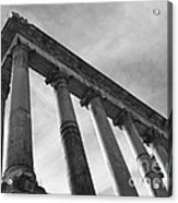 The Temple Of Saturn Acrylic Print by Chris Hill