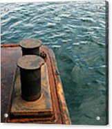 The Tether Strap On A Pontoon Boat Acrylic Print