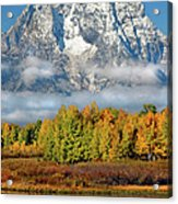 The Tetons In Autumn Acrylic Print