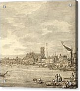 The Thames Looking Towards Westminster From Near York Water Gate  Acrylic Print by Giovanni Antonio Canaletto